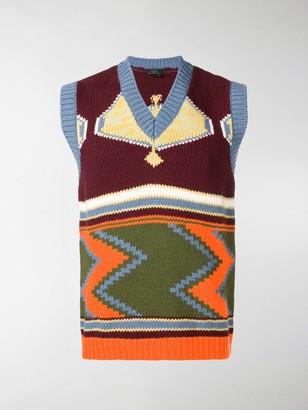 Prada intarsia V-neck sweater vest