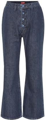STAUD Helena high-rise flared jeans