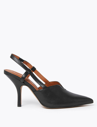Marks and Spencer Leather Stiletto Slingback Sandals