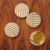 west elm Linear Gold Coasters (Set of 4)