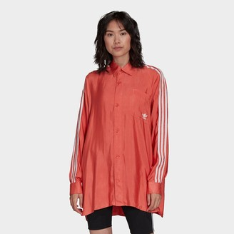 adidas Women's Satin Button-Up Shirt