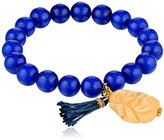 Yochi Royal Blue Beaded Buddha Bracelet