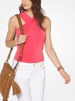 Michael Kors Cross-Neck Top