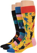 Happy Socks Beatles Gift Box 3-Pack (Navy/Multi) Men's Crew Cut Socks Shoes