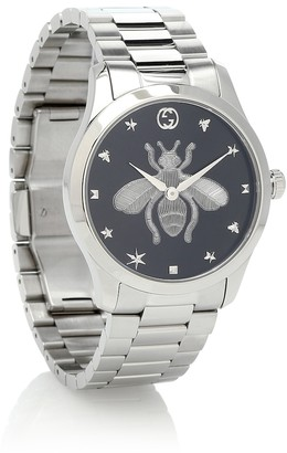 Gucci G-Timeless 38mm stainless-steel watch