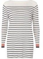 Dorothy Perkins Womens **Vila Stripe Long Sleeve Tunic Top- Cream