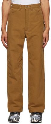 South2 West8 Orange Denim Painter Trousers