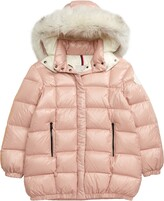 Moncler Parana Quilted Hooded Down Jacket with Genuine Fox Fur Trim