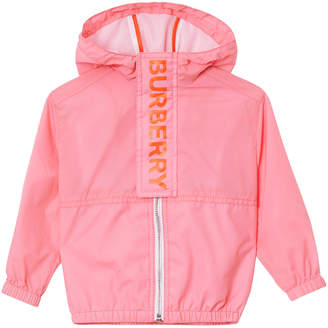 Burberry Austin Hooded Logo Wind Jacket, Size 12M-2