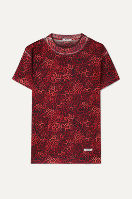 BLOUSE - Castiglione Leopard-print Jersey T-shirt - Red