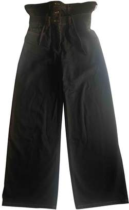 Y/Project Black Cotton Jeans