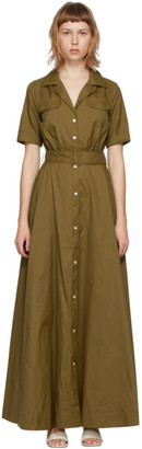 STAUD Khaki Millie Dress