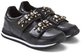 Dolce & Gabbana Black Trainers with Gold Embellished Straps