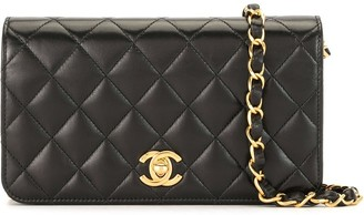Chanel Pre Owned 2002 quilted CC shoulder bag