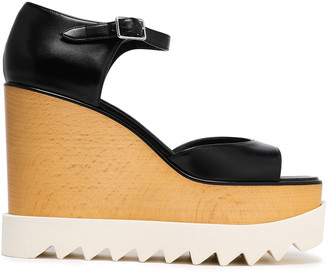 Stella McCartney Felik Faux Leather Wedge Sandals