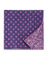 The Men's Store At Bloomingdale's The Men's Store at Bloomingdale's Circle Medallion Wool Pocket Square - 100% Exclusive