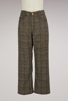 Marc Jacobs Cotton and wool pants