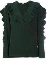 Fendi ruffle detail blouse