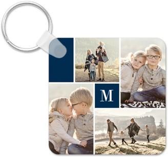 Shutterfly Gallery Monogram Key Ring, Square, ,Adult Unisex