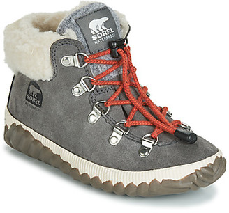 Sorel YOUTH OUT N ABOUT CONQUEST girls's Mid Boots in Grey