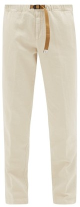 White Sand - Belted Cotton-blend Chino Trousers - Mens - White