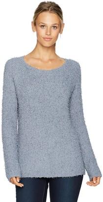 BB Dakota Women's Shyla Eyelash Fuzzy Pullover Sweater