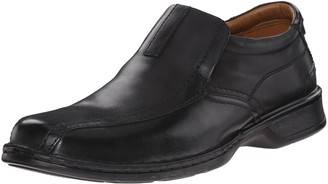 Clarks Men's Escalade Step Slip-on Loafer- Black Leather 7 D(M) US