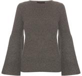 The Row Atilia cashmere flared-sleeve sweater
