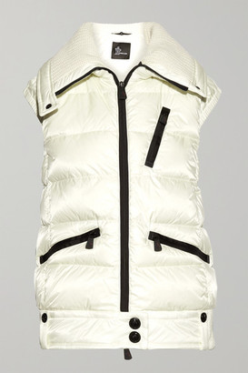 MONCLER GRENOBLE Les Bains Quilted Down Vest - Ivory