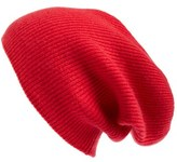 Women's Halogen Slouchy Cashmere Beanie - Pink