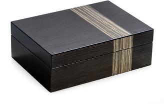 Bey-Berk Lacquered Ash Wood Valet Box
