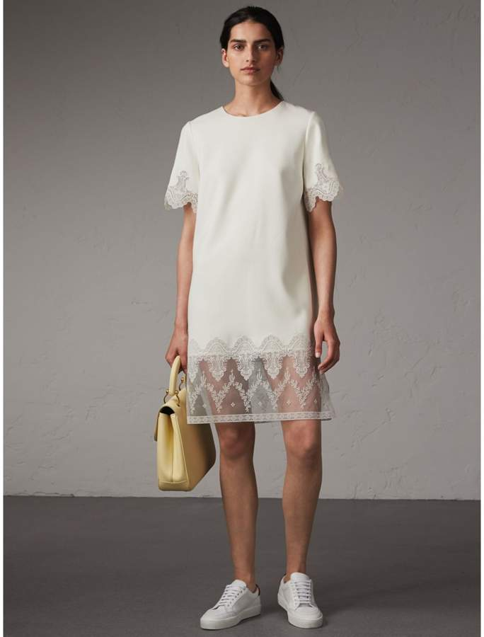 Burberry Lace and Silk Shift Dress
