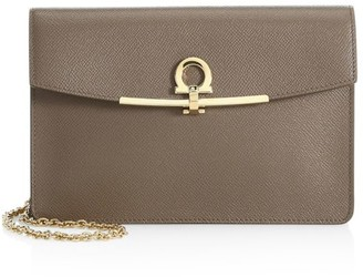 Salvatore Ferragamo Gancini Leather Crossbody Bag