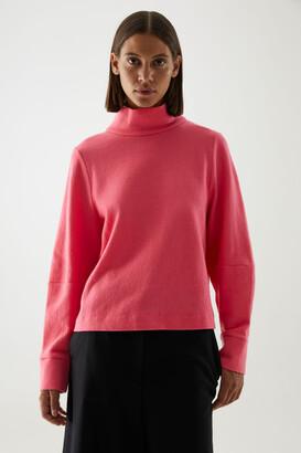 Cos Merino Wool-Organic Cotton Mix Roll-Neck Structured Jumper
