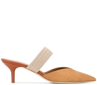 Malone Souliers Maisie arch-strap canvas mules