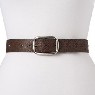 Women's & Plus Size Relic by Fossil Perforated & Studded Reversible Belt