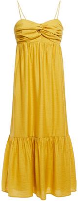 Joie Twist-front Shantung Midi Dress