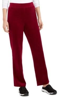 Karen Scott Petite Velour Pull-On Pants, Created For Macy's