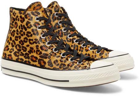 Converse 1970s Chuck Taylor All Star Leopard-Print Faux Calf Hair High-Top Sneakers