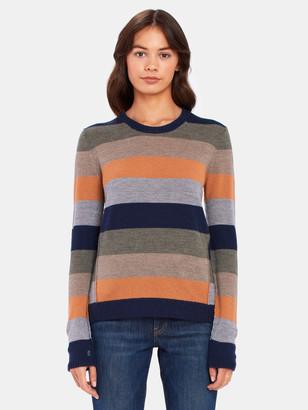 ATM Anthony Thomas Melillo Merino Wool Stripe Crewneck Sweater