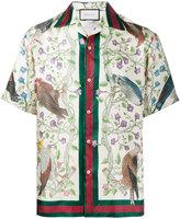Gucci Birds of Prey print bowling shirt - men - Silk - 46