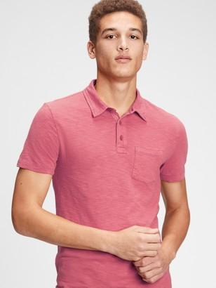 Gap Vintage Slub Polo Shirt Shirt