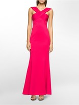 Calvin Klein Off-The-Shoulder Sleeveless Gown