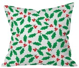 "DENY Designs Green Nature Zoe Wodarz Holly Day Throw Pillow (16""x16"