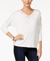 Thalia Sodi Lace-Trim Top, Only at Macy's