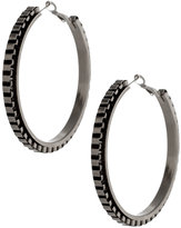 Box Chain Hoop Earrings (+)