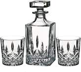 Marquis by Waterford Markham Square Decanter & Double Old Fashioned Glass Set