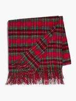 Talbots Holiday Tartan Fringe Throw Blanket-Tartan Plaid
