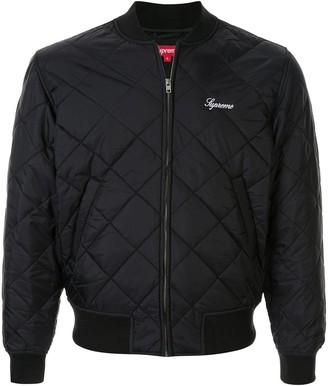 Supreme Sequin Patch Quilted Bomber