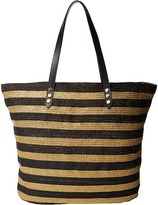 San Diego Hat Company BSB1558 Briad Gold Stripe Tote Bag with Interior Sippered Pocket
